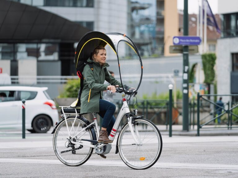 Innovation : BUB-UP, la protection vélo anti-pluie !