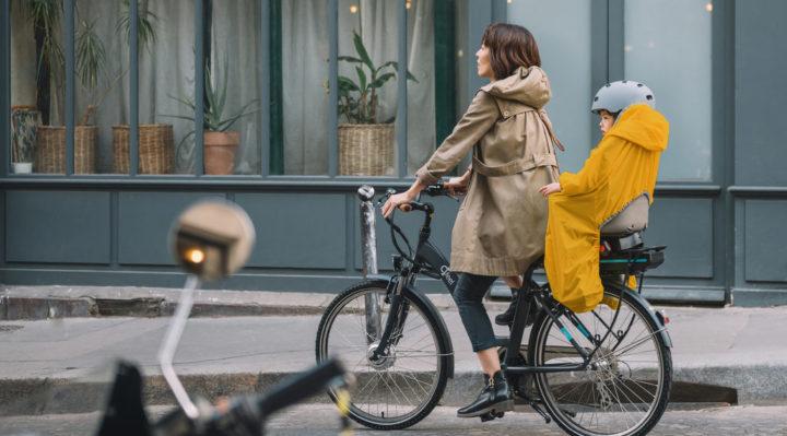 Poncho Enfant Rainette Vélo pluiee